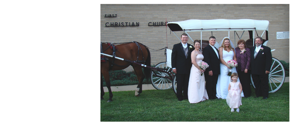 Church Wedding with Horse-drawn carriage