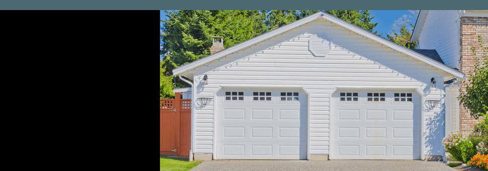 Exterior shot of a garage