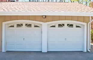 Closed garage doors