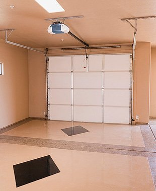 Inside shot of a garage
