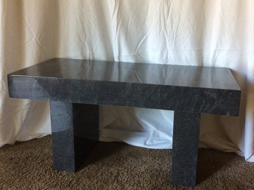 American Black Granite Bench