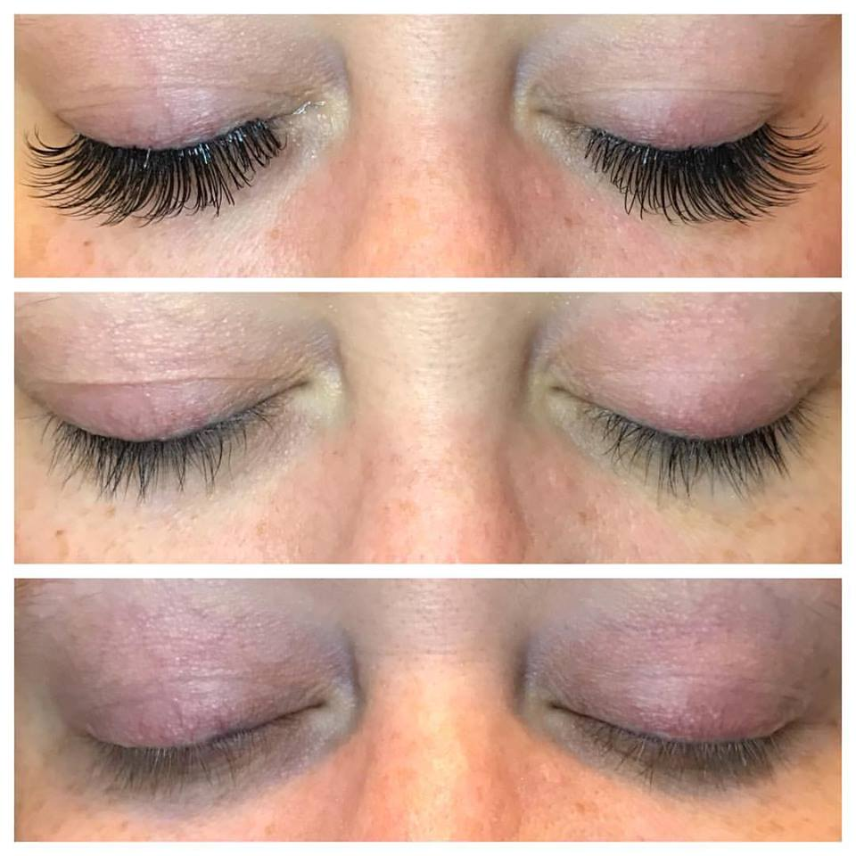 Eye lashes before and after