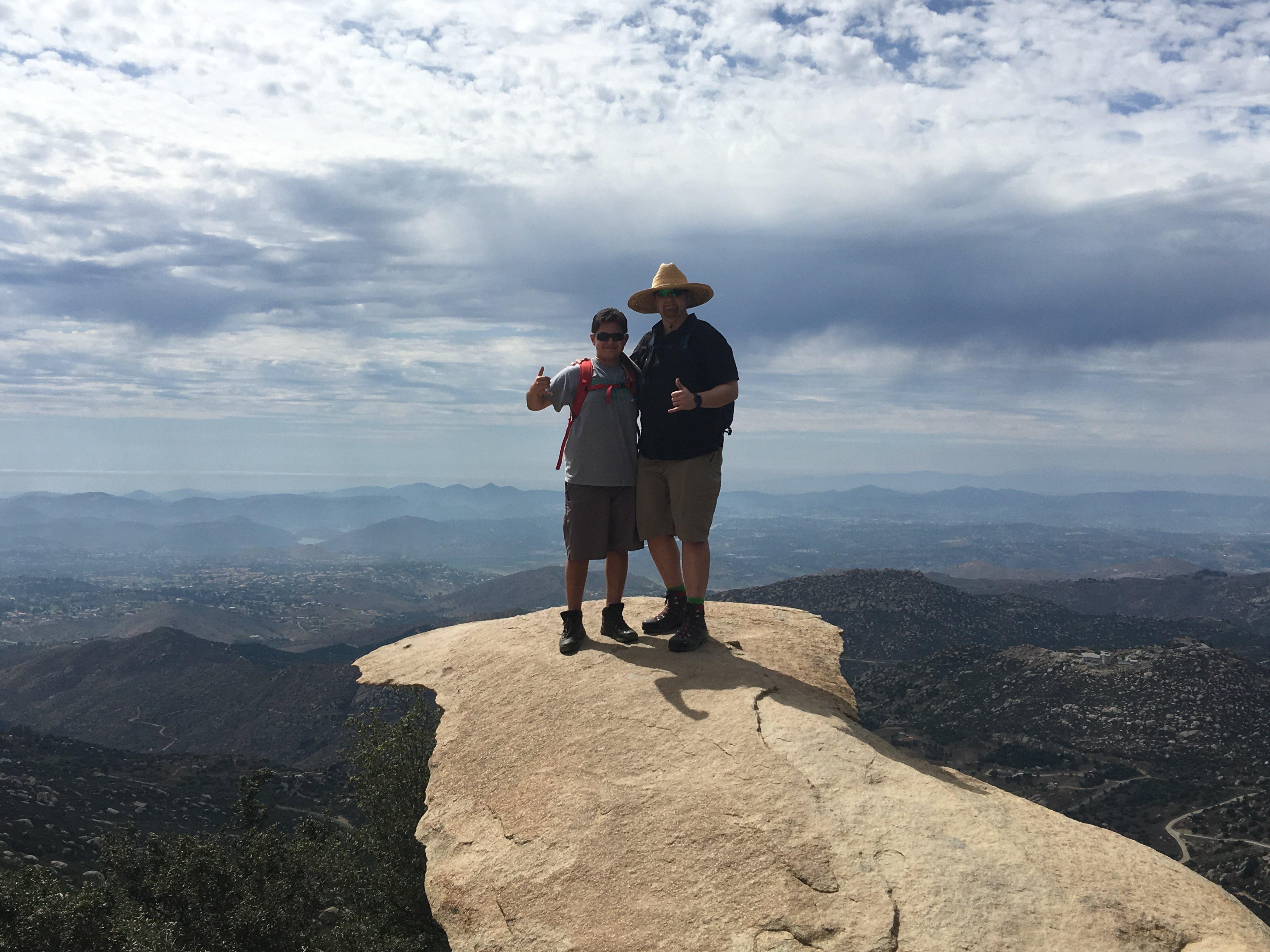 Potato chip rock; Mt. Woodson; Hiking; Hike