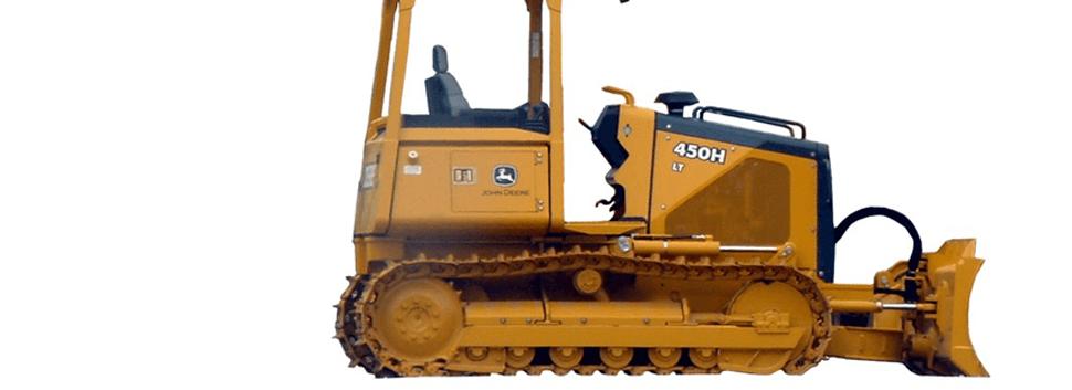 Modern yellow excavator