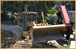 Road excavating