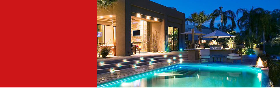 Luxurious pool LED lighting