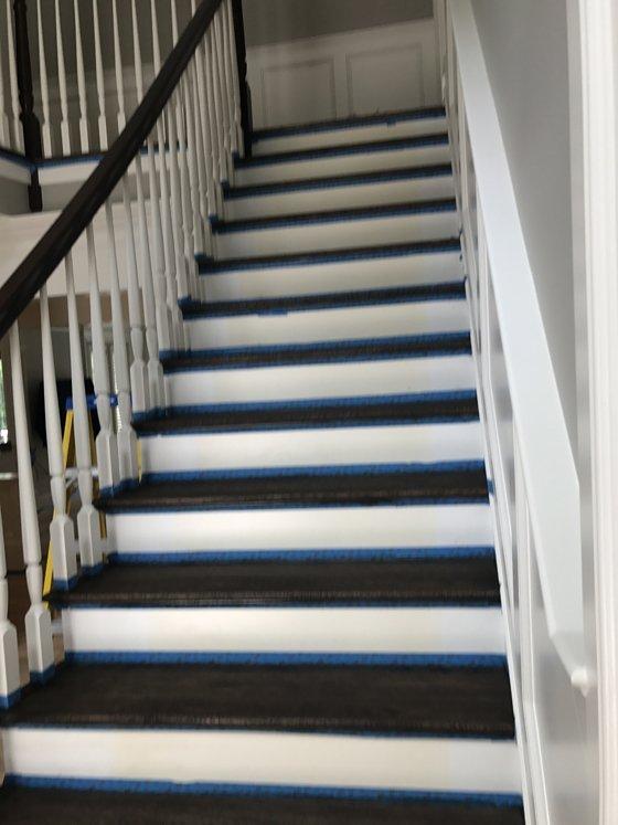 Hardwood stairway - after