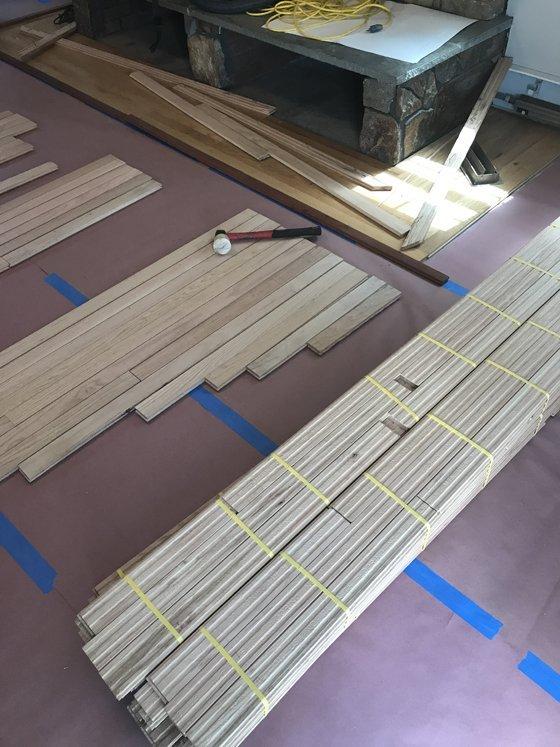 Flooring job before starting