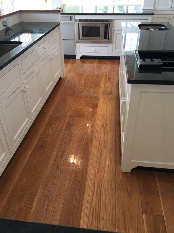 Kitchen hardwood floor - after