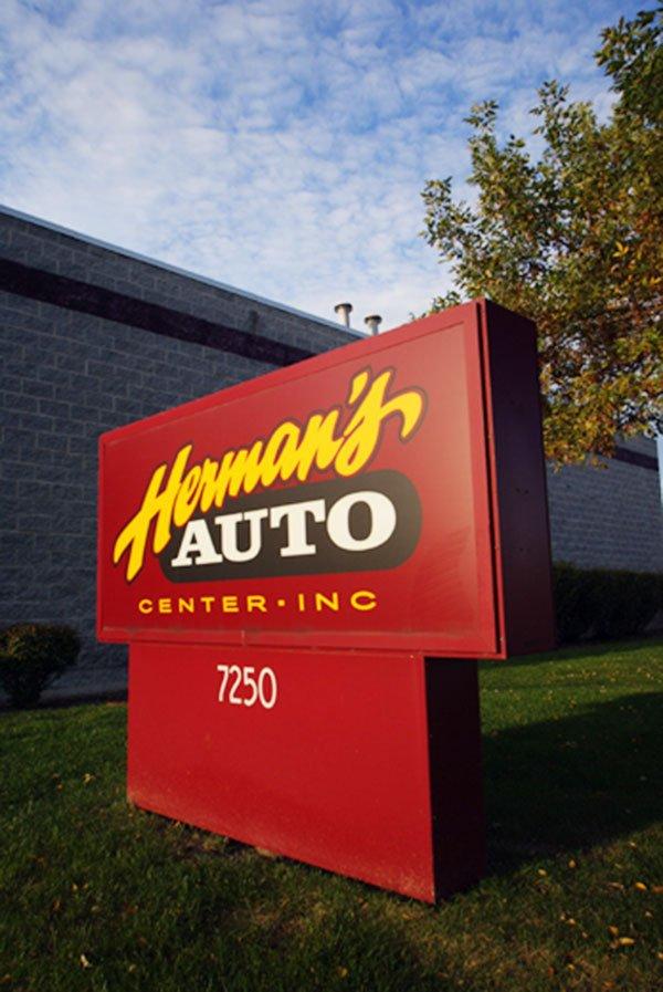 Herman's Auto Center, Inc. signage