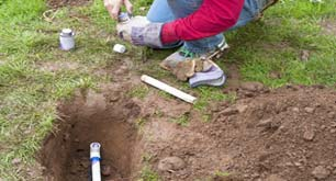 Irrigation pipe repairing