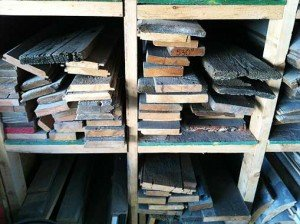 Our collections of reclaimed wood boards are organized into groupings in our shop