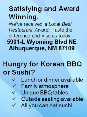 Korean Restaurant - Albuquerque, NM - Korean BBQ House and Sushi & Sake