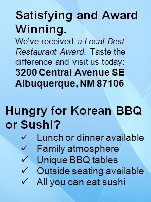 Korean Restaurant - Albuquerque, NM - Korean BBQ House and Sushi & Sake