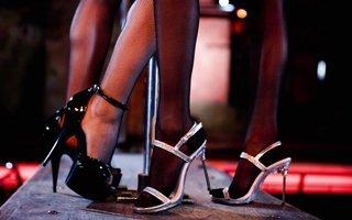 Two women wearing sexy heels
