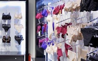 Bras and panties on display