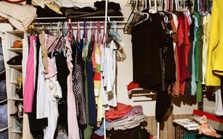 Dresses and hanged clothes