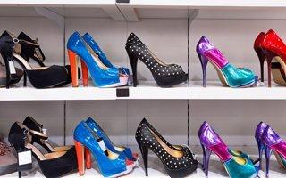 Sexy high heels display