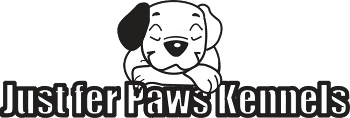 Just fer Paws Kennels - Logo