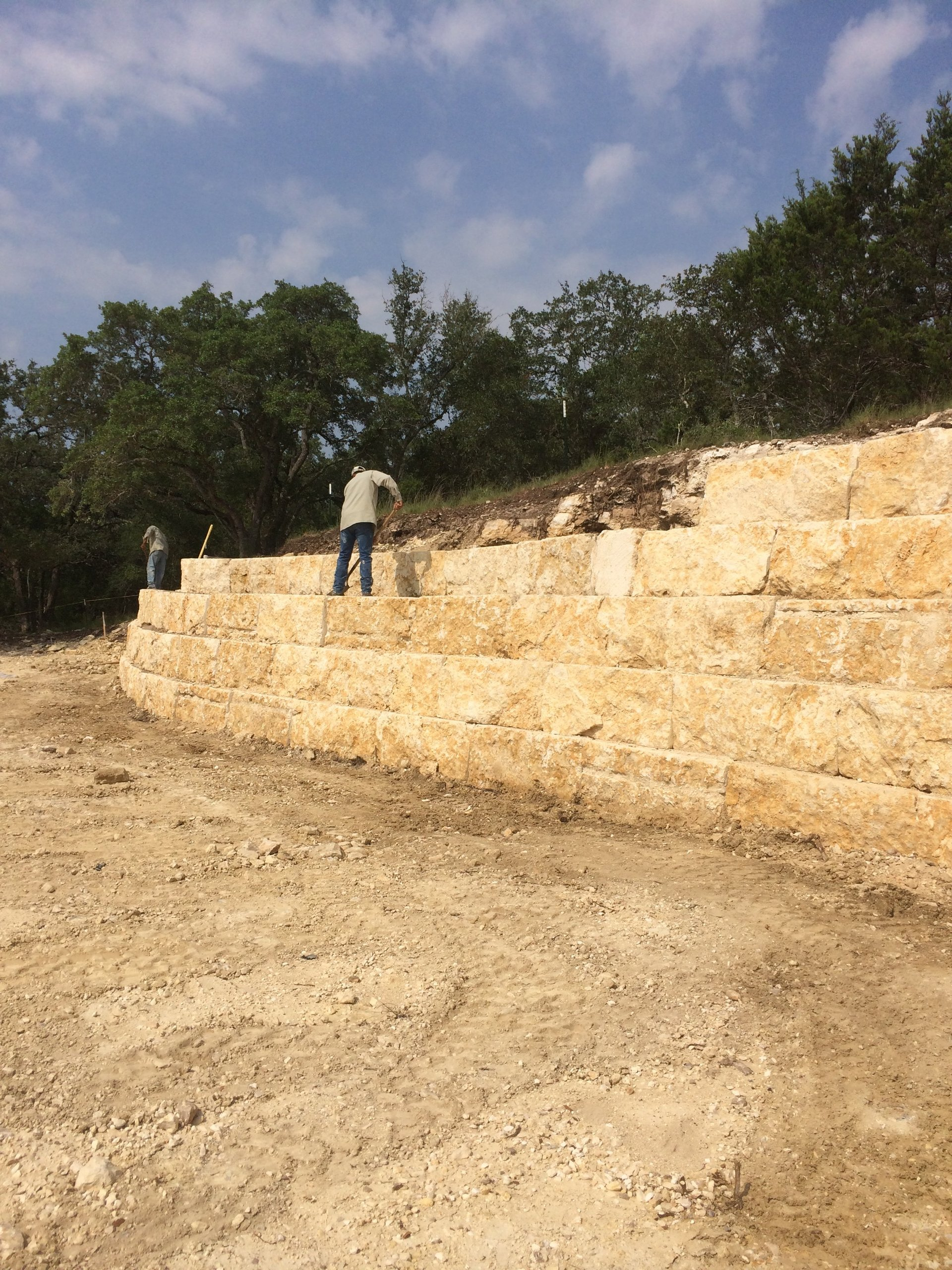 Maldonado Landscape Company Retaining Wall Gallery Boerne TX