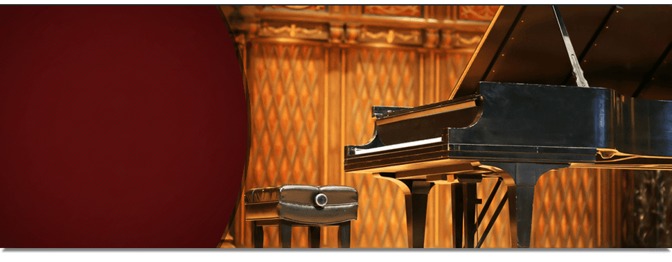 Piano in a stage
