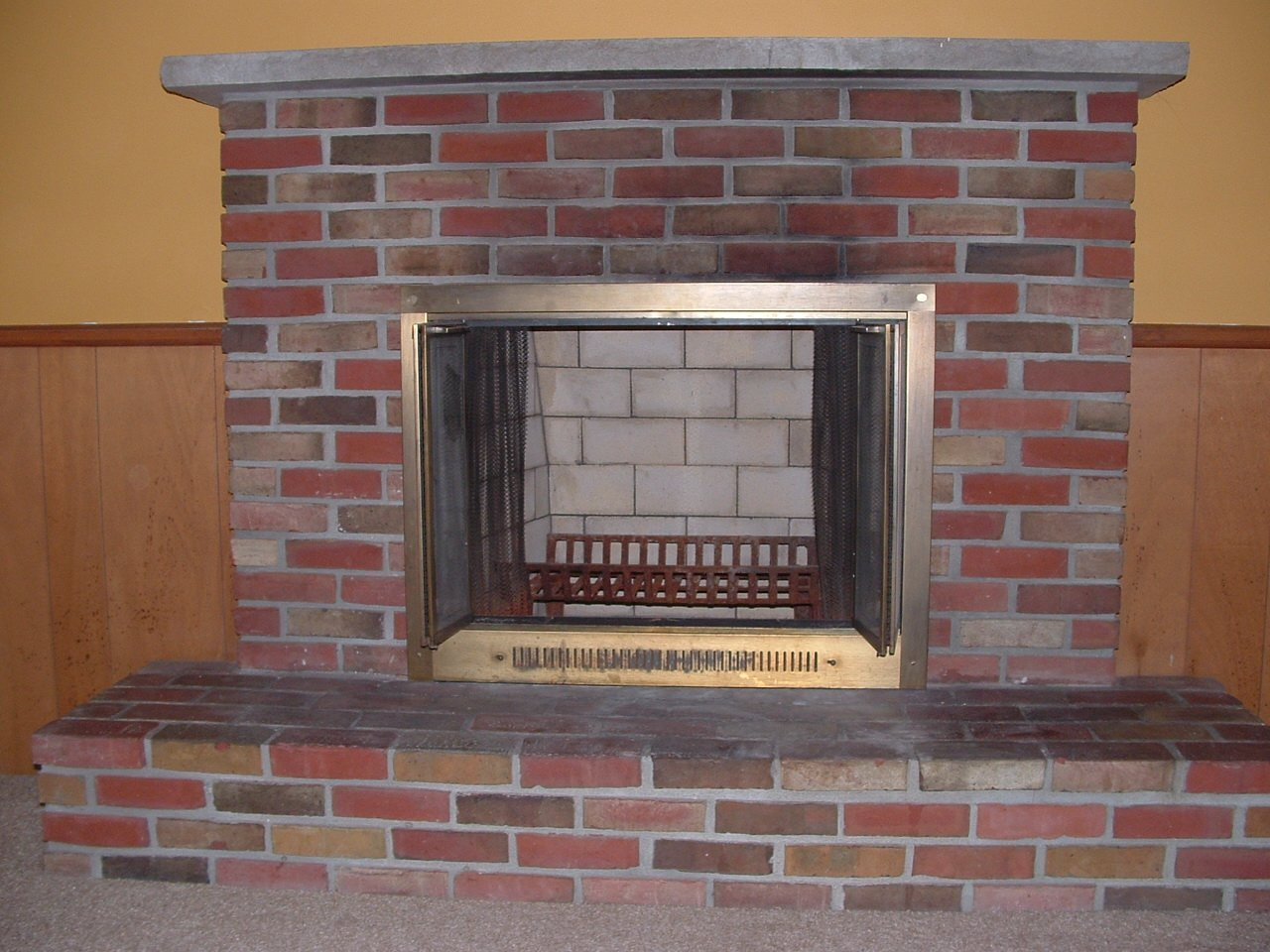 fireplace repair after