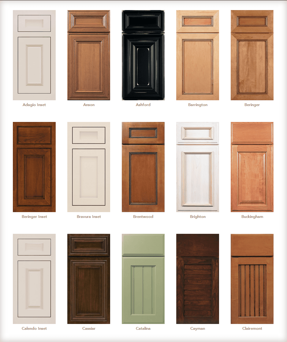 Cabinet Door Styles Cabinet Door Gallery Designs In Cabinetry In Vero Beach Fl