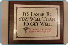 Framed inspirational message
