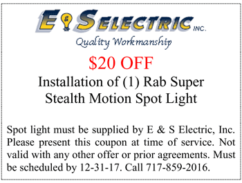 Special Offers | Brownstown, PA | E & S Electric Inc | 717-859-2016