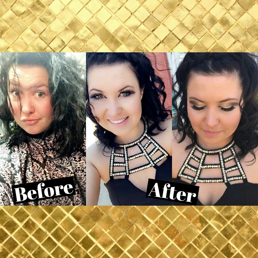 Stylish Hairstyle after and before