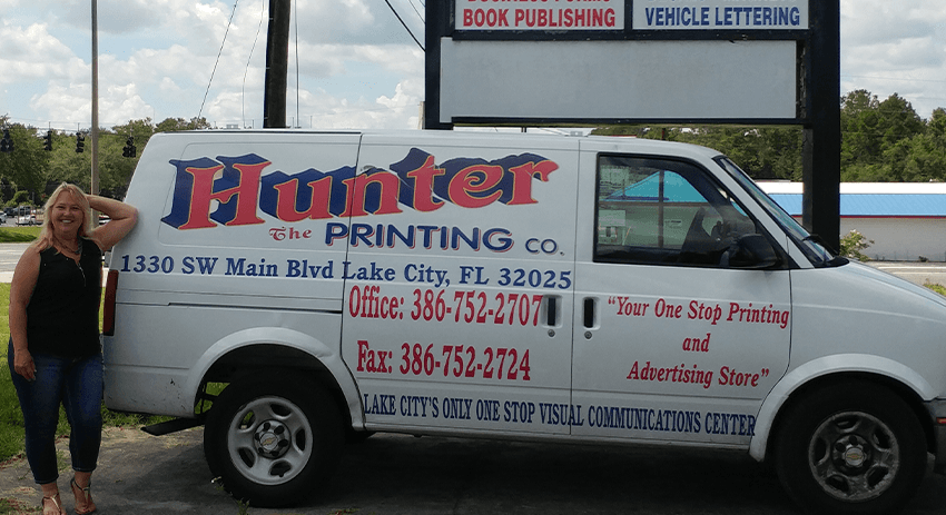 The Hunter Printing Company service vehicle