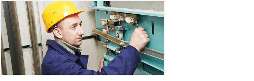 Electrician adjusting screw