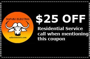 25% coupon | Bremerton, WA | Safari Electric LLC | 360-813-3505