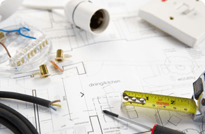 Electrical plan, tools and some materials