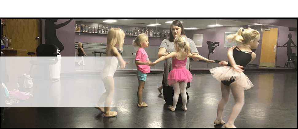 Dance instructor teaching her students