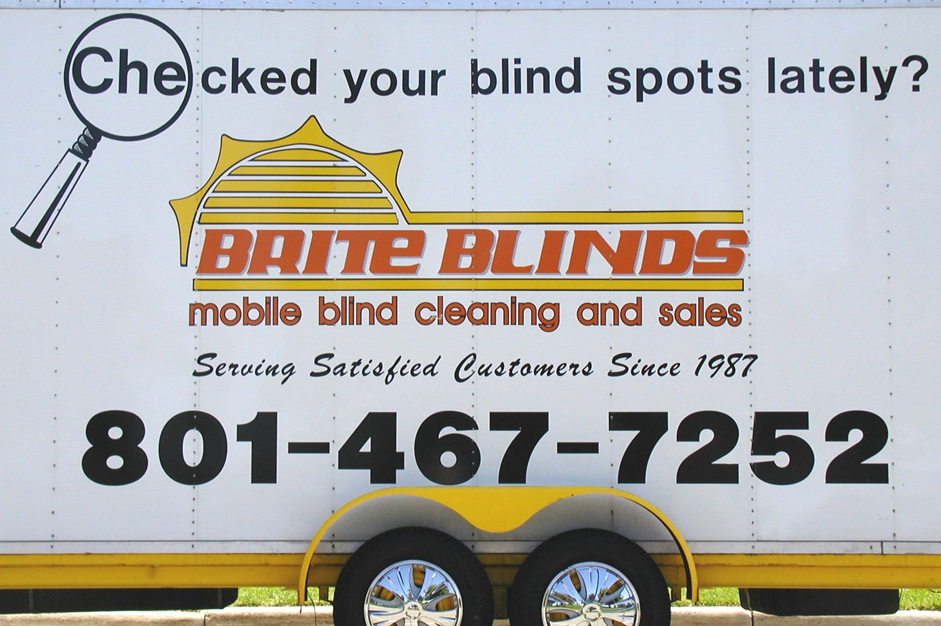 Brite Blinds Mobile blind cleaning and sales Truck