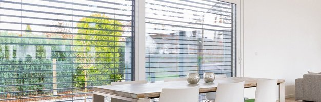 Horizontal Blinds in office