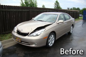 Auto Body Work Before