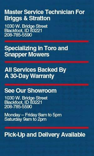Lawn Mowers - Blackfoot, ID - Mowers-N-More, LLC