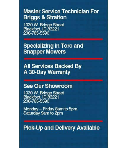 Lawn Mowers and Power Equipment - Blackfoot, ID - Mowers-N-More, LLC