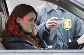 officer doing a drunk test