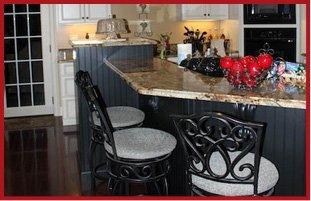 Furnished kitchen area