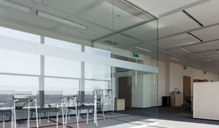 Office glass windows
