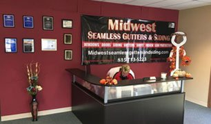 Midwest Seamless gutters and siding office