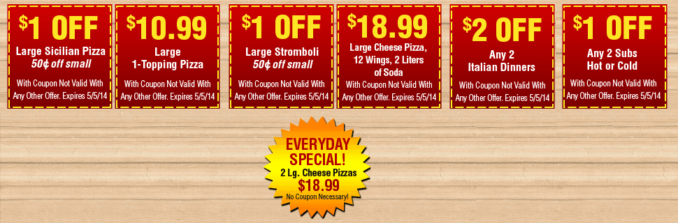 Roma Pizza Coupon