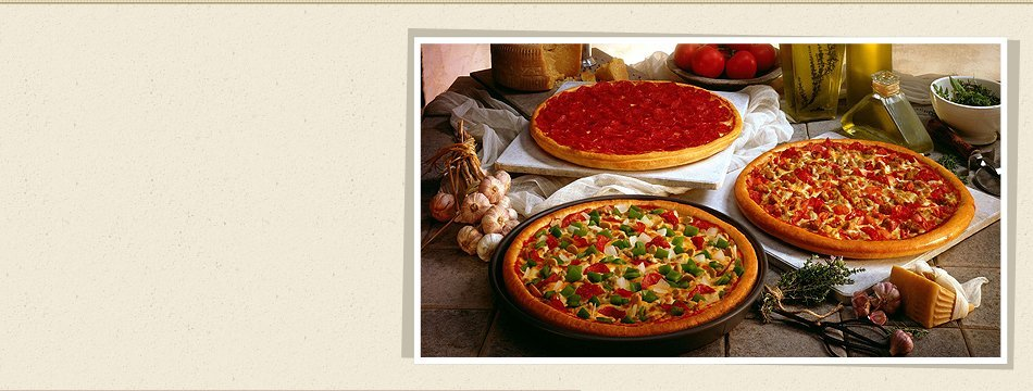 Different kinds of italian pizza