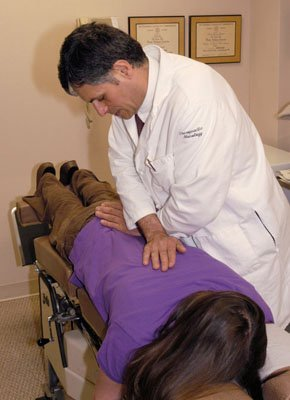 Treatment from professional chiropractor