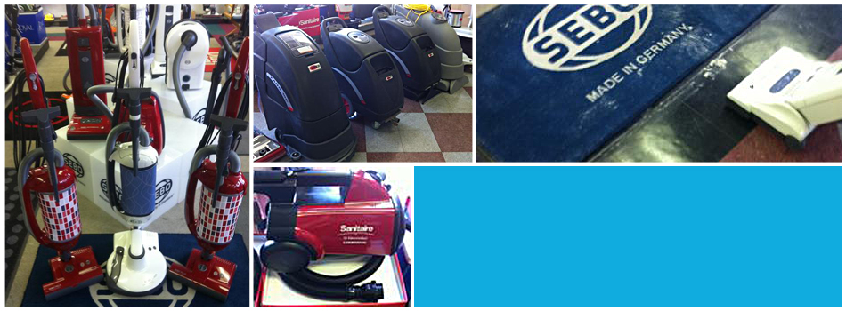 Commercial vacuums at Avalon Vacuum & Janitorial Supply Company