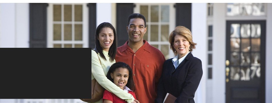 Family with the insurance agent