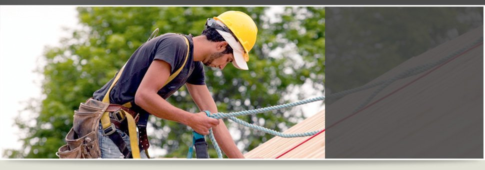 Man installing roof
